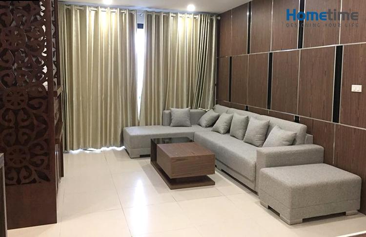 Thi công nội thất phòng khách chung cư Hoàng Huy Pruksa Hải Phòng