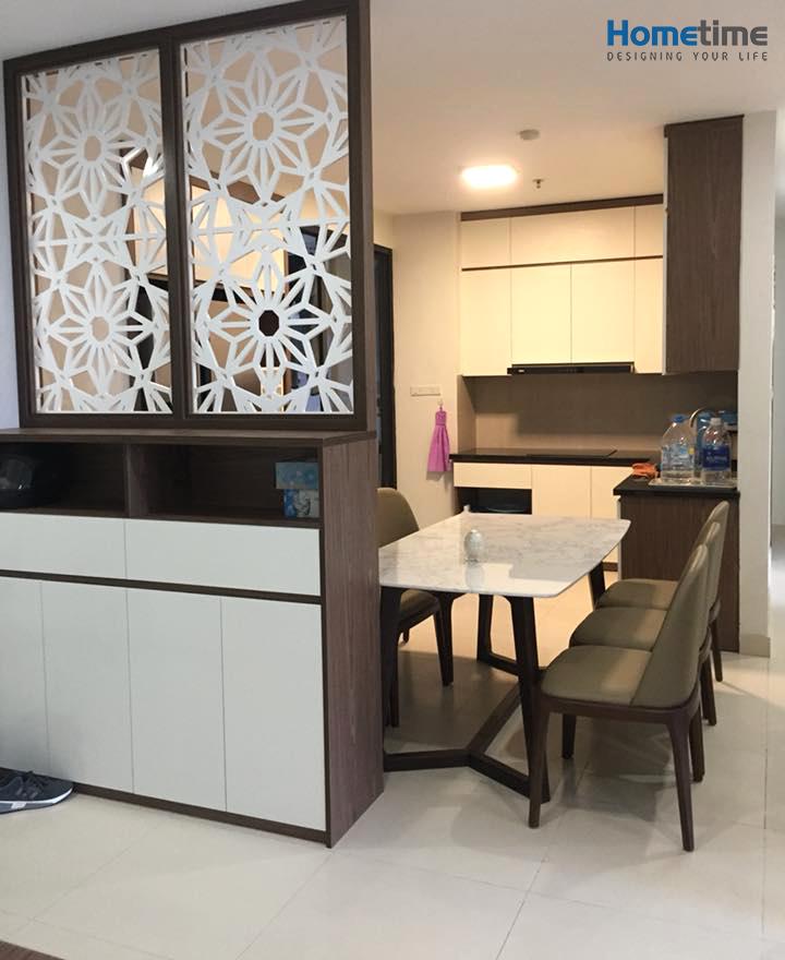 phòng bếp khách chung cư Hoàng Huy