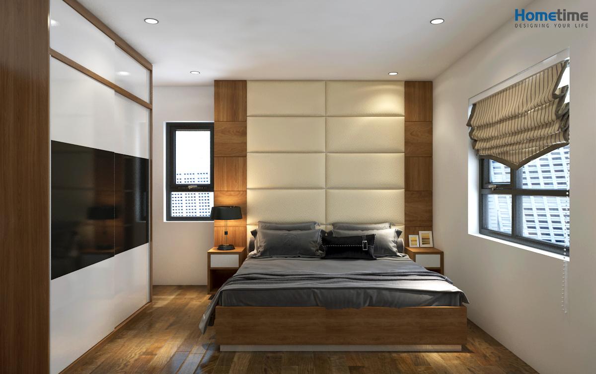 Thiết kế phòng ngủ master chung cư Hoàng Huy
