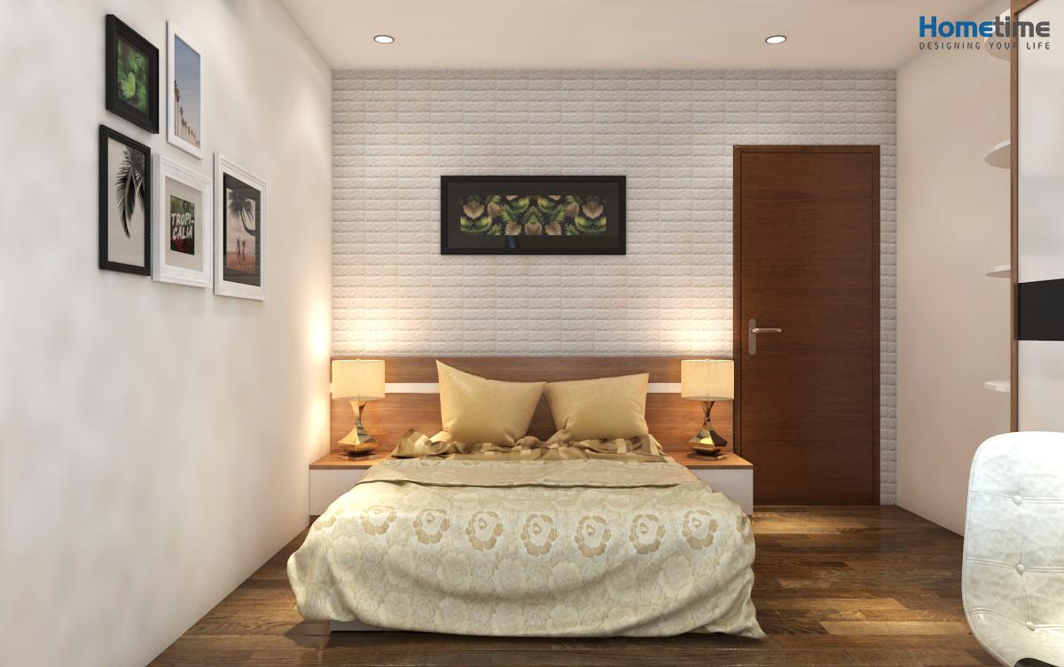 Thiết kế phòng ngủ nhỏ chung cư Hoàng Huy