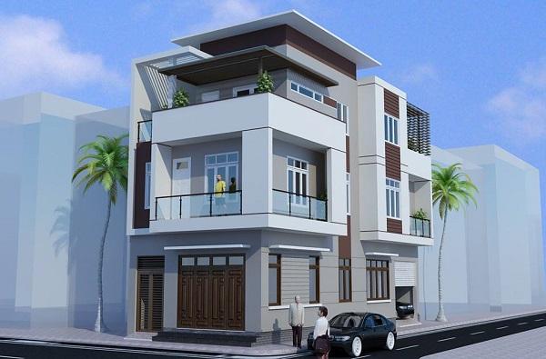 Mẫu nhà phố 2 mặt tiền đẹp Hải Phòng
