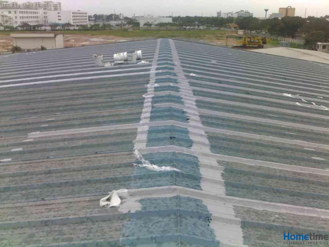 Chống thấm mái tôn khu công nghiệp