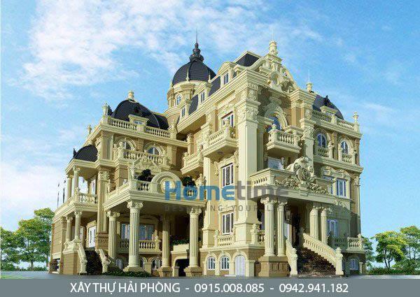 thiết kế biệt thự cổ điển kiểu pháp Hải Phòng