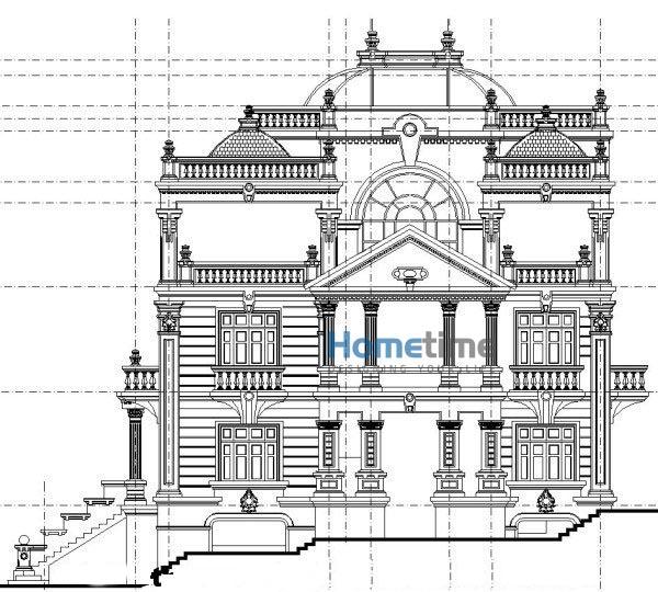 Thiết kế kiến trúc biệt thự kiểu pháp cổ điển