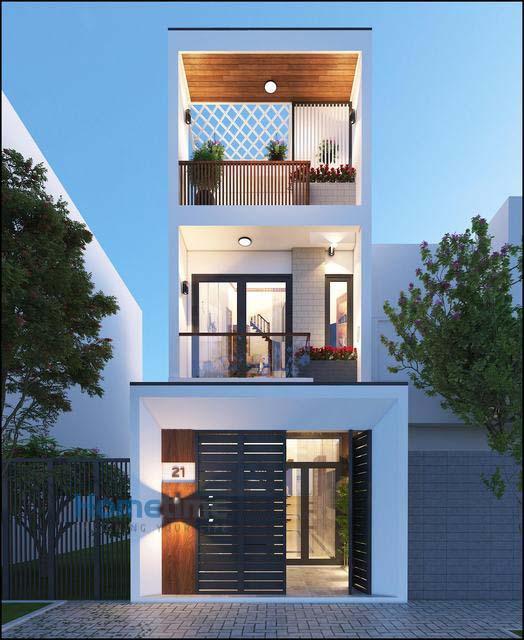 Thiết kế nhà phố 3 tầng tại Hải Phòng