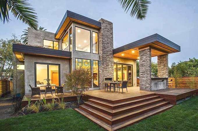 Mẫu nhà vườn đẹp 1 tầng mang phong cách kiến trúc châu âu