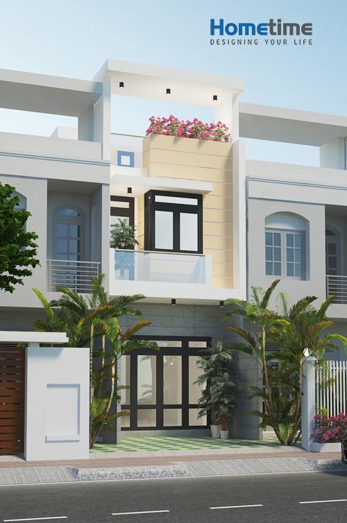 Phối cảnh 3D nhà 3 tầng đầy đủ tiện nghi