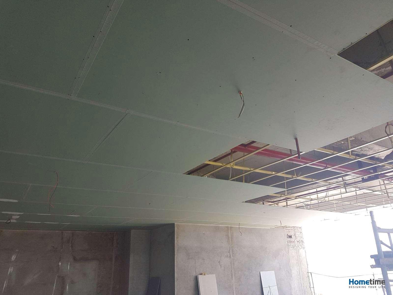 Hình ảnh thi công trần thạch cao tại Hải Phòng