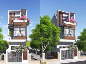 Thiết kế nhà phố 3 tầng khu tái định cư Tam Bạc
