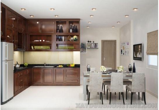 Nội thất phòng bếp sang trọng với tủ bếp hiện đại