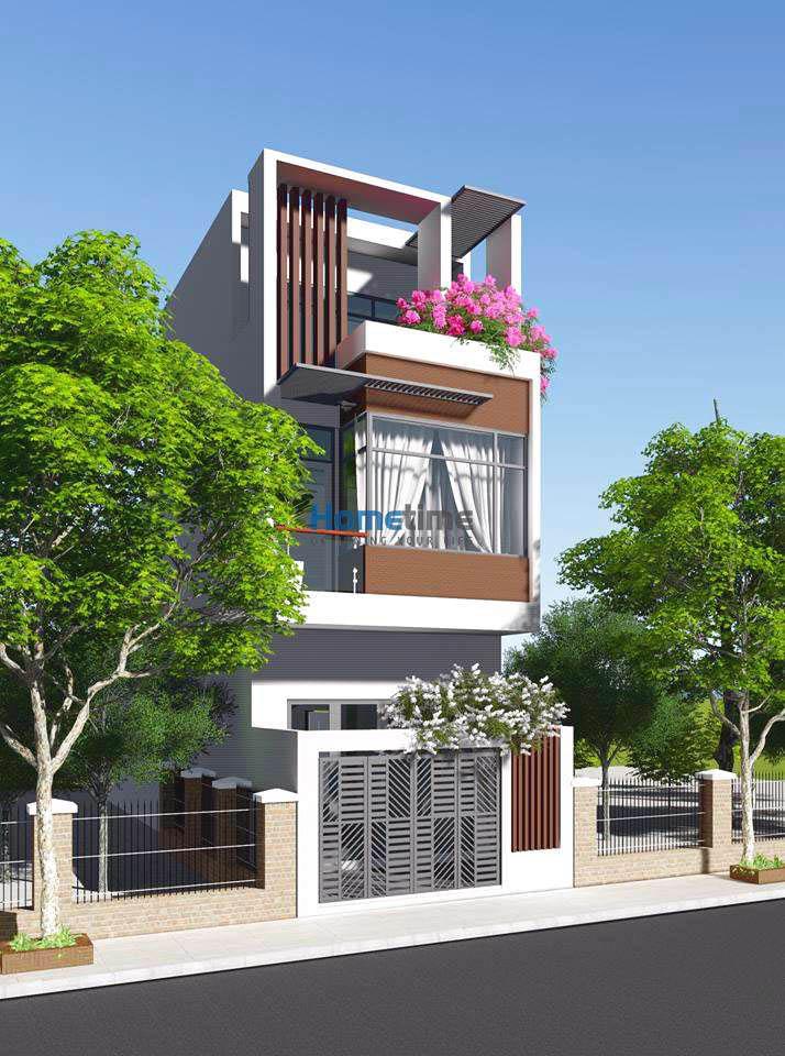 Thiết kế nhà phố 3 tầng hiện đại nhà chị Lam
