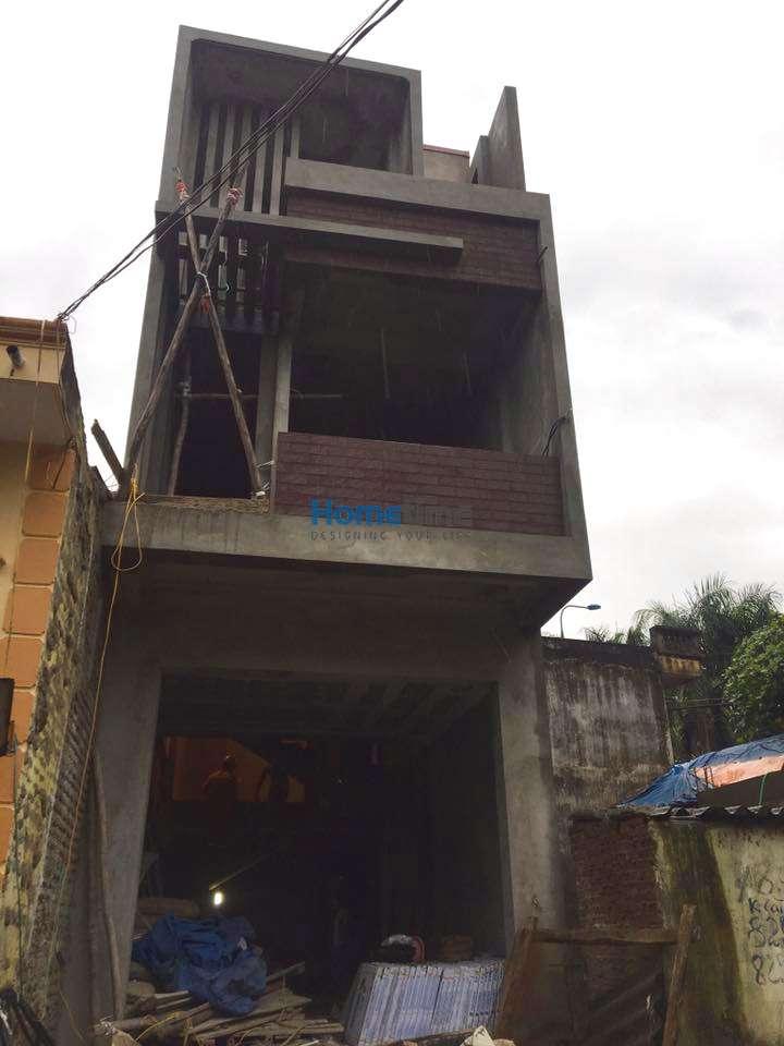 Toàn cảnh ngôi nhà trong quá trình thi công