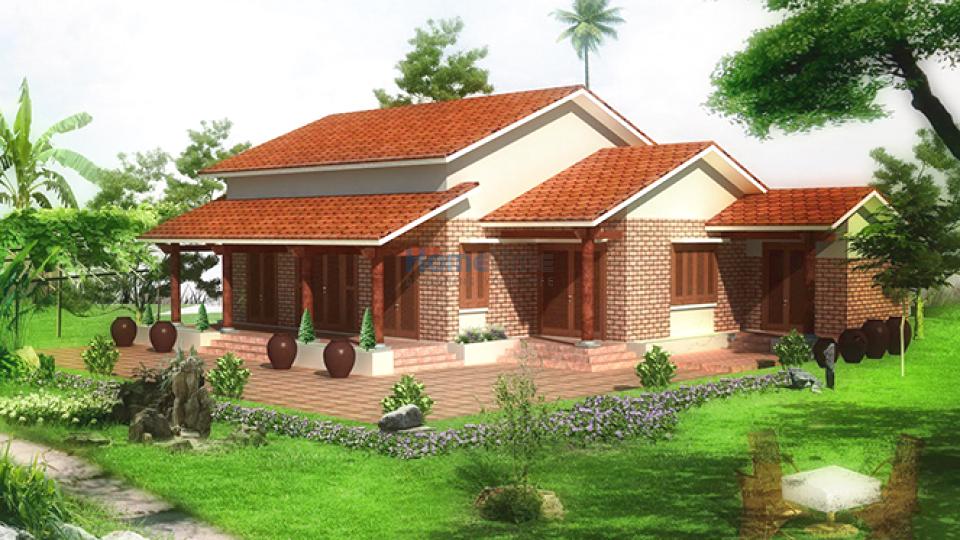 xây nhà vườn phong cách hiện đại tại Hải Phòng