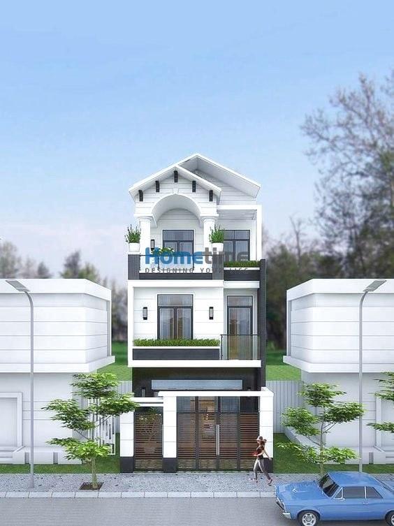 Mẫu thiết kế nhà phố mái thái 3 tầng đẹp ngây ngất