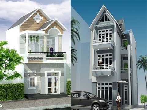 Thiết kế nhà phố mái thái 3 tầng đẹp tại Hải Phòng