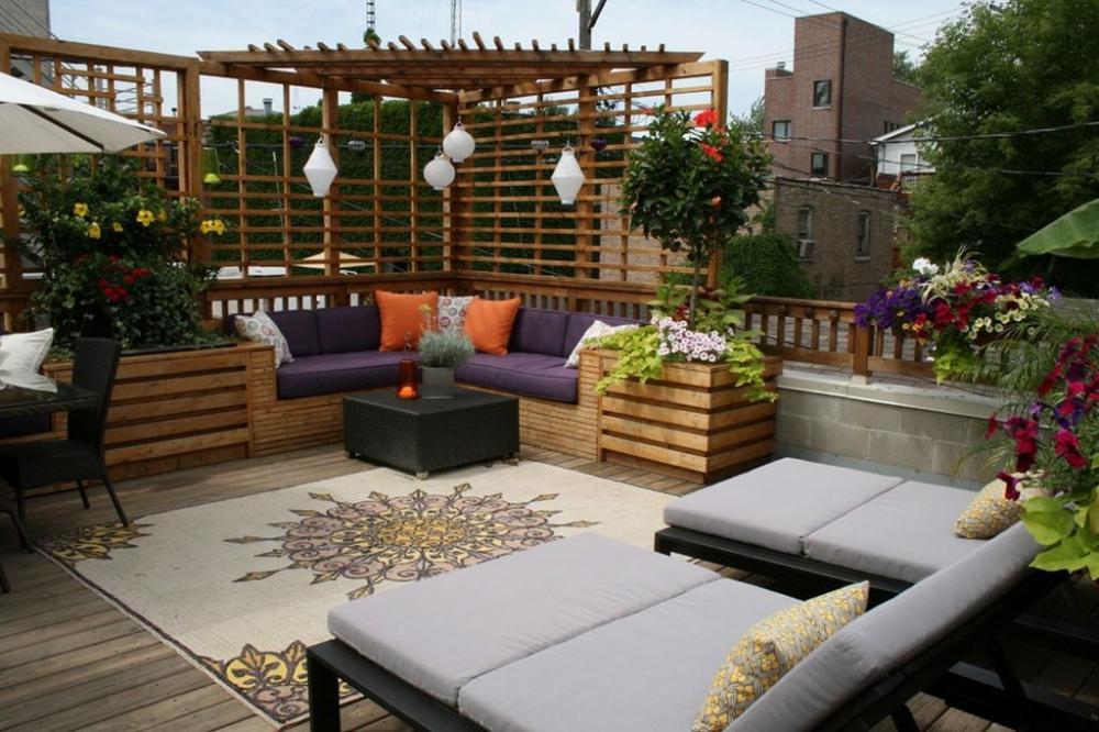 Cách bố trí khéo léo sáng tạo cho một vườn sân thượng trong thiết kế nhà phố tại Hải Phòng