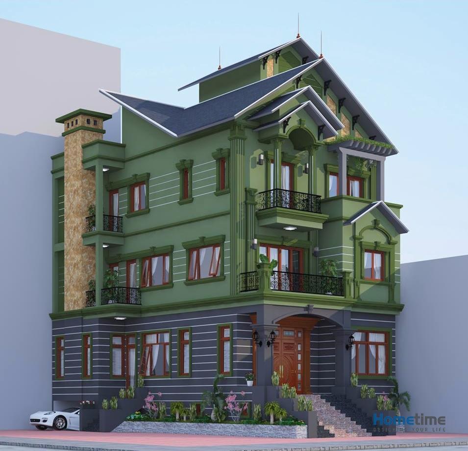 Sự tiện nghi thoải mái của nhà mái thái 3 tầng