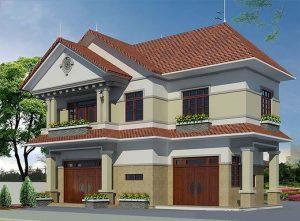 Thiết kế biệt thự mái thái 2 tầng nhà anh Dũng