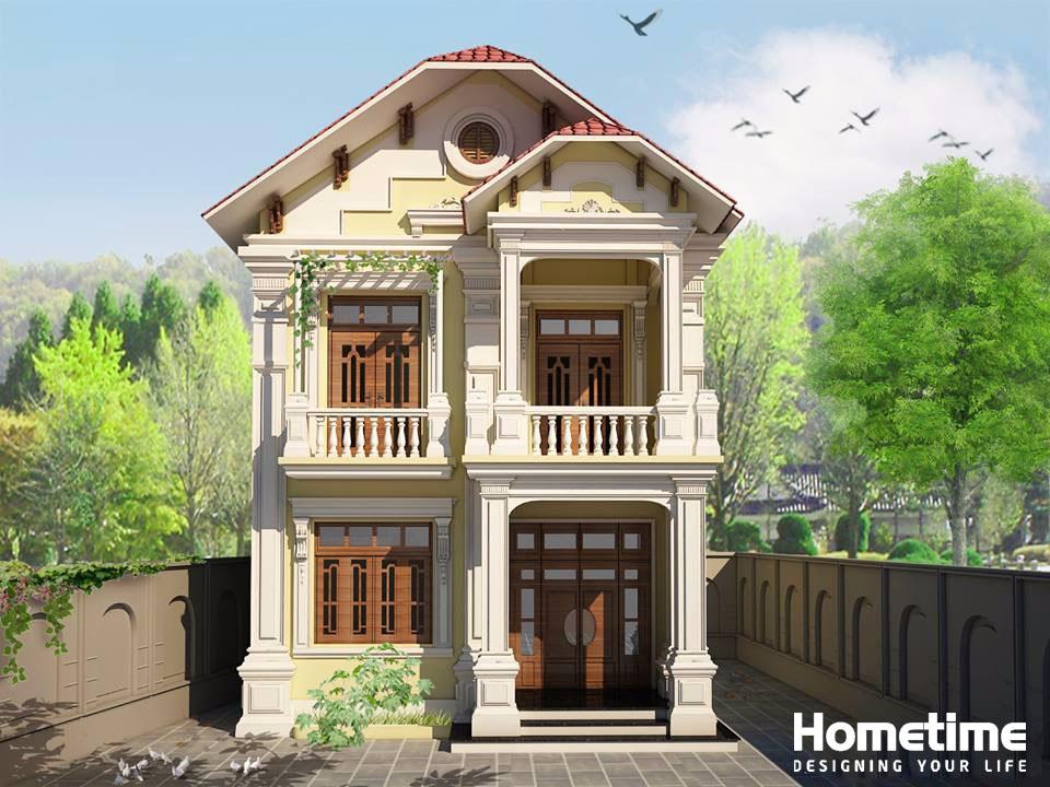 Phối cảnh 3D nhà mái thái 2 tầng anh Tuân Lê Hồng Phong