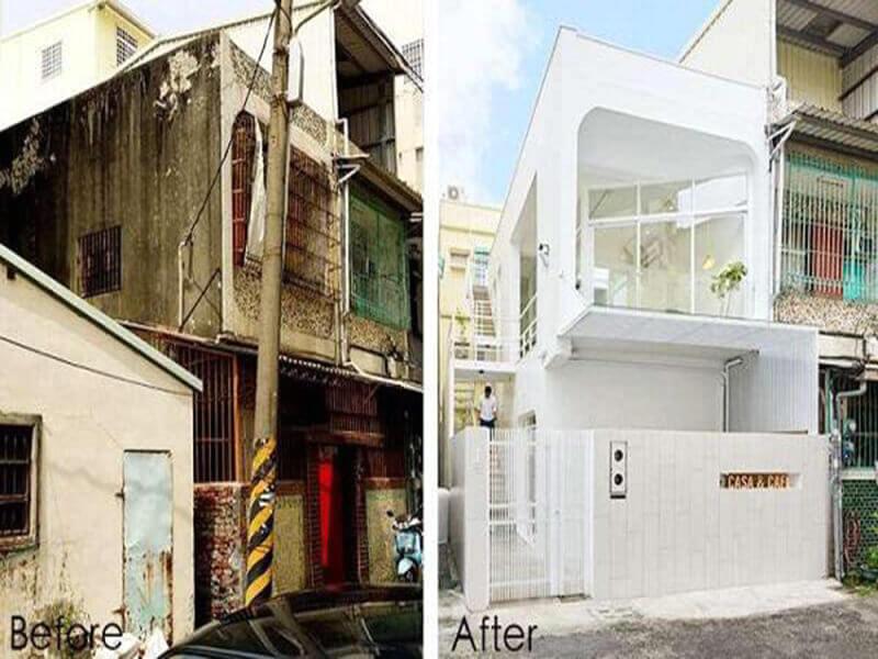Hình ảnh cải tạo sửa chữa nhà lô cũ đẹp như mới