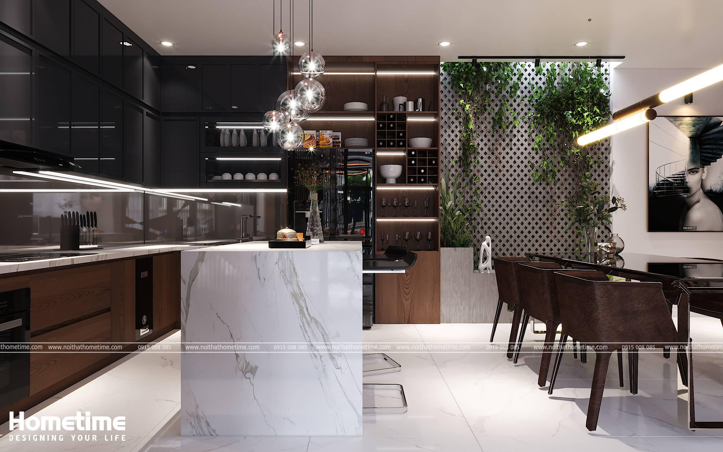 Hình ảnh nhà bếp và nhà ăn biệt thự nhà phố nhà anh Thành