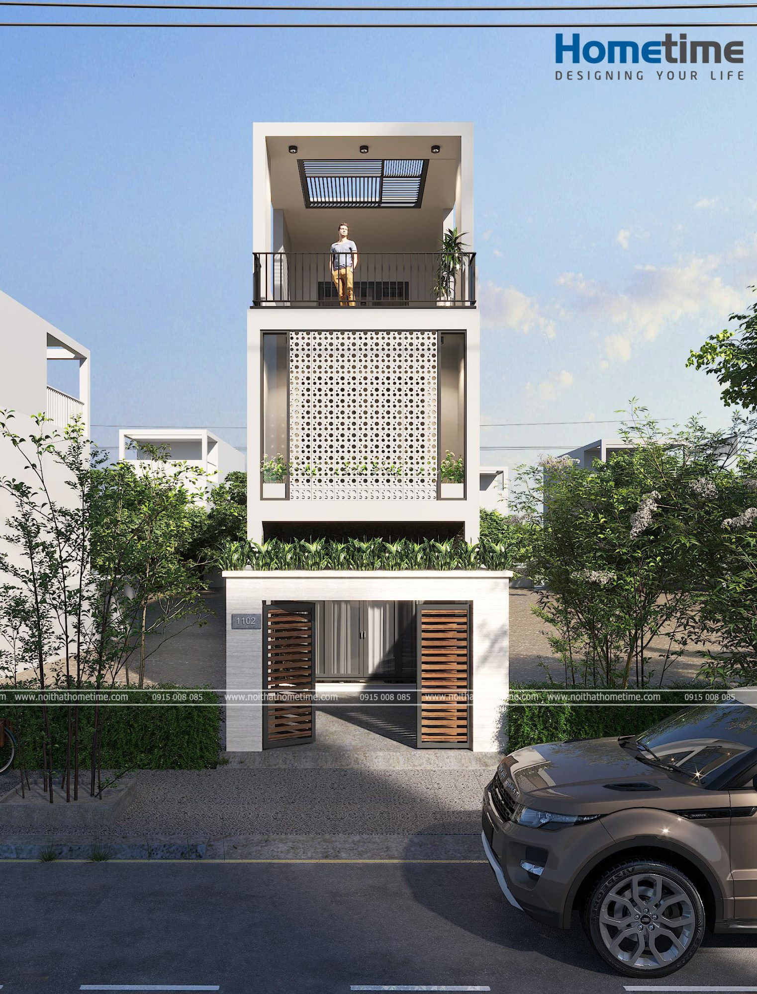 Thiết kế kiến trúc nhà 3 tầng nhà anh Nam