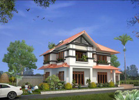 Biệt thự nhà vườn mái thái đẹp tại Kiến Thụy