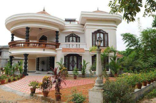 Xây biệt thự nhà vườn 2 tầng đẹp tại Hải Phòng