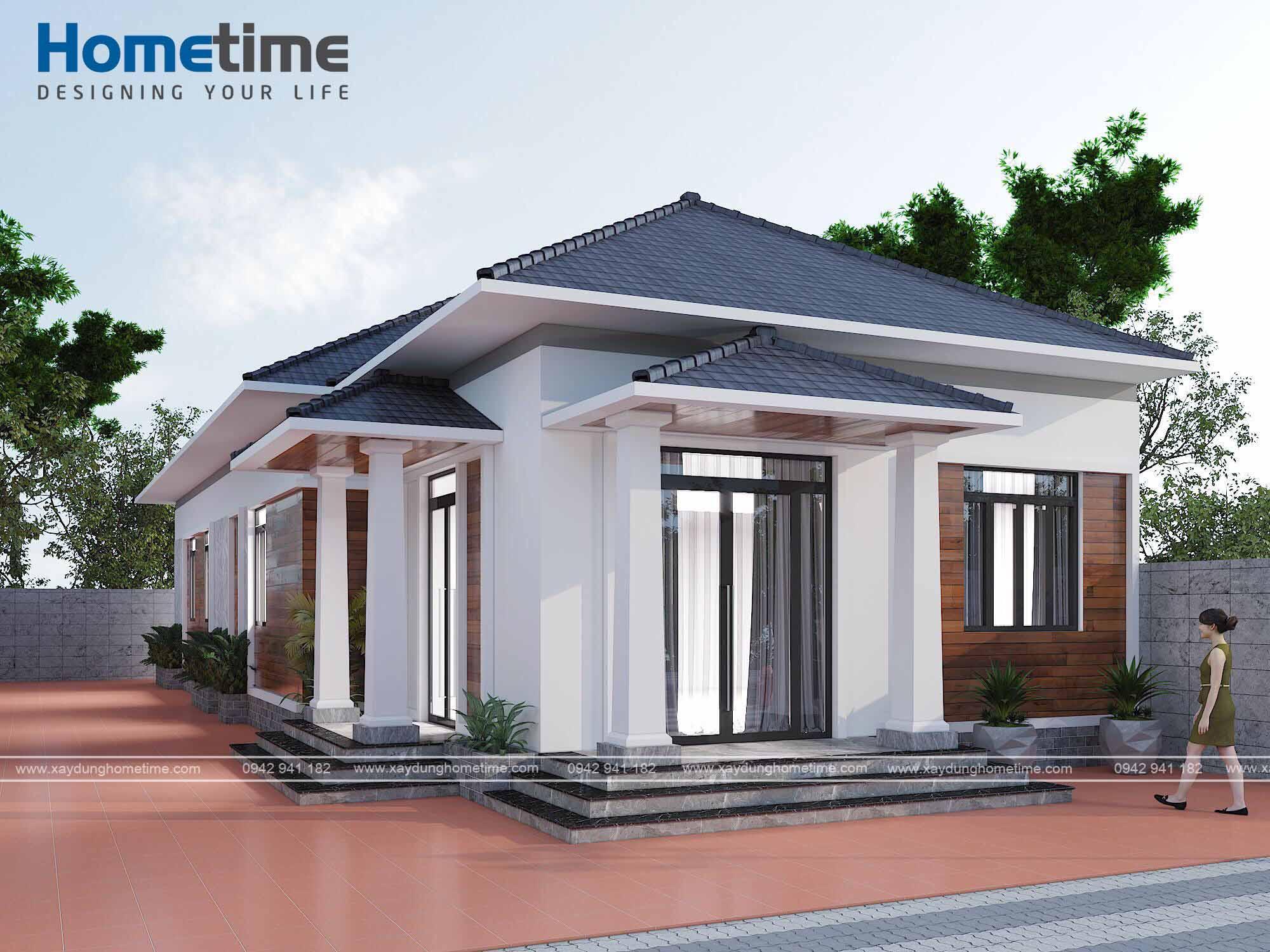 Thiết kế nhà mái thái với gam màu hài hòa dịu nhẹ