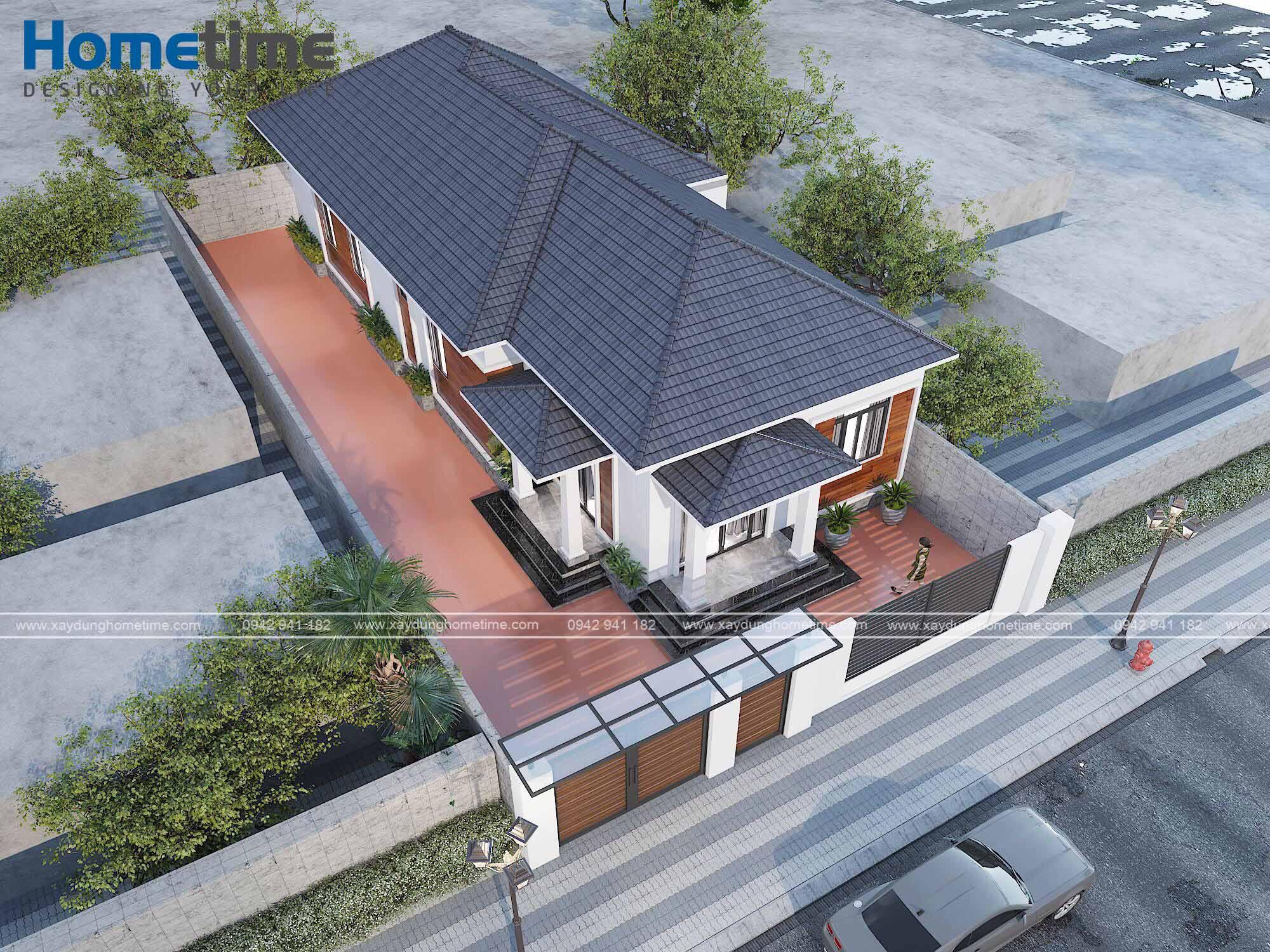 Ưu điểm tuyệt vời của nhà mái thái một tầng
