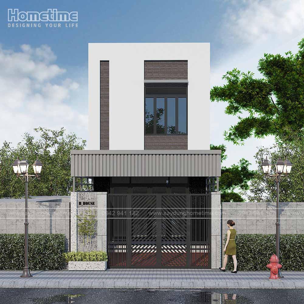 Phong cách xây nhà 2 tầng hiện đại, đầy nét trẻ trung